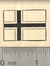 Flag of Norway Rubber Stamp, Scandinavian cross outlined in white D24301 WM