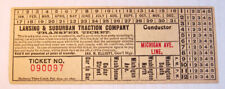 Vintage Lansing & Suburban Traction Co. Streetcar & Trolley Transfer