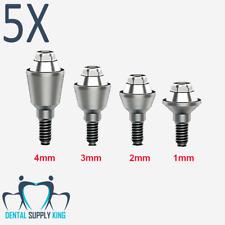 5x Straight Multi Unit Abutment 1-4MM Internal Hex Dental Implant Abutment