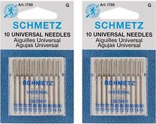 Schmetz Universal 70-90 Assorted Sewing Machine Needles, 10-Pack (2 pack)