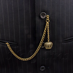 Peaky Blinders Bronze Colour Albert Pocket Watch Fob Chain With Crown