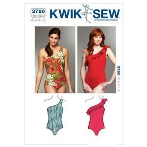 Kwik Sew Swimsuit Sewing Pattern 3780 (XS-XL) Misses Leotard Dance Costume