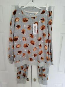 NEXT Ladies Hedgehog Cosy Pyjamas in a bag Size LARGE 16 - 18  New