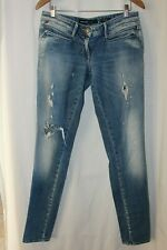 MISS SIXTY Made in ITALY Women's Denim Blue Jeans Straight Leg Distressed 34X34