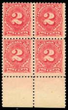 momen: Us Stamps #J60 Block of 4 Mint Og Nh Cv$3,400