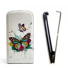 Handy Tasche Flip Case Etui Apple iPhone 4 4G 4S Schmetterling Flower Hülle M578
