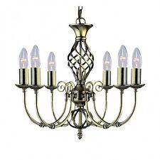 Searchlight 8396-6 ZANZIBAR antique brass ornate 6 lamp chandelier