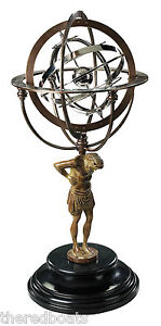 18th C. Atlas Armillary Statue - GL051 Authetic Models