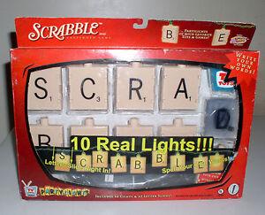 New Vintage Scrabble Party Light Set Rare Game lights! Holiday Lights!