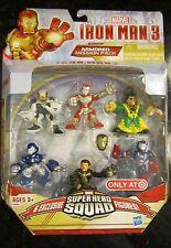 Marvel SUPER HERO SQUAD 6 Pack Iron Man 3 Armored Mission Patriot Ghost Mandarin