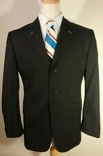 $895 Baroni Super 150s Black Charcoal Sport Coat size 42 Made In Italy
