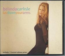 BELINDA CARLISLE - lay down your arms CDM 4TR + LIMITED CARD PRINTS!!! 1993
