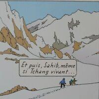 Hergé (Según ) : Tintin A Tibet - 3 Litografías Ex Libris #2010