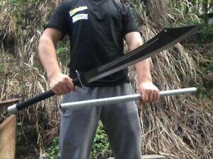 KUNG-FU Martial Arts Camping Battle Sword Sabre Broadsword Sharp Steel Blade#533