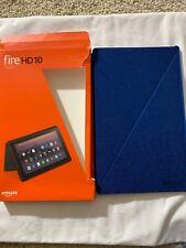 Amazon - Folio Case for Amazon Fire HD 10 (7th Generation) Blue