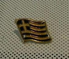 GREECE FLAG GREEK ☆ Metal ☆ Enamel - Pin Badge  ☆ COUNTRY Flag  ☆