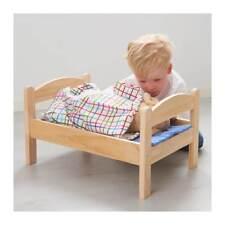 IKEA DUKTIG Puppenbett mit Bettset, Kiefer, bunt Stabiles Holz Bett Puppe NEU*