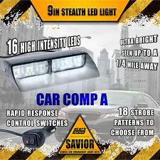 16 LED Emergency Dash Car Vehicle Windshield Warning Flash Strobe Light WHITE A