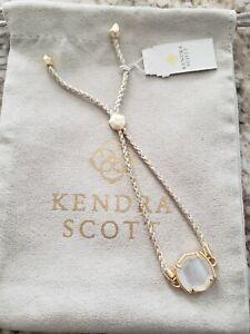 Kendra Scott Davis Friendship Bracelet Gold Ivory Mother of Pearl NWT $48