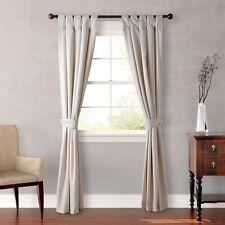"Candice Olson Cream Drapes / Curtain 4 Pc.Set Stepping Stone 84""L Tab Top NEW"