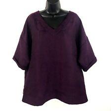 Soft Surroundings tunic L jacquard texture thick burgundy red kimono sleeve
