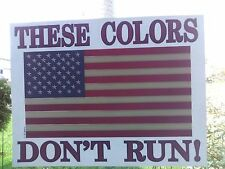 AMERICAN FLAG ** THESE COLORS DON'T RUN ** Heat Transfer *** MADE IN USA ***