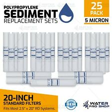 25 PK - 5 Micron 20-Inch X 2.5-Inch Sediment Filter Replacement Cartridges