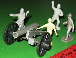 MARX CIVIL WAR FIRING LARGE CANNON WITH CREW.............