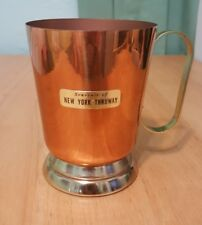 Vintage 60s copper mug cup souvenir New York State Thruway 7oz