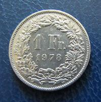Münze 1 Schweizer Franken 1978 aus Umlauf gültiges Zahlungsmittel Sammler
