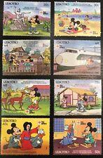 Lesotho- Disney Mickey Visits Japan 8 Stamps