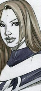 HOT SUE STORM SK#1379 FANTASY ORIGINAL PINUP GIRL ART by ALEX MIRANDA