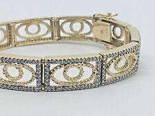 "400-DIAMOND~14K YELLOW GOLD-TENNIS CHAIN BRACELET~ 7"" -25.6g."