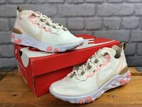 NIKE LADIES UK 7 EU 41 REACT ELEMENT 55 PHANTOM PINK BEIGE TRAINERS RRP £115 KL