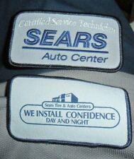 Sears Automotive Patch Lot Of 2 Auto Services Technician Vintage Collectors