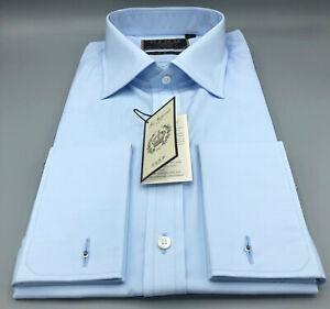 THOMAS PINK Finest 200's Blue Shirt UK:16, EU:41, RRP: £225! SLIM FIT