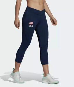 Adidas Womens United States USA Volleyball ALPHASKIN Leggings Sold Out SZ S New