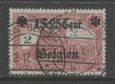 1916 Belgium Ww 1 German occupation 1.25 Fr issue with op used, signed $ 35.00