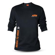 Genuine KTM Racing BikeRide Motocross Motorcycle Black Long Sleeve Tee T-Shirt