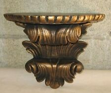 VTG Rococo Gold Gilt Gesso Wood Console Shelf -  Wall Sconce Carved Ornate