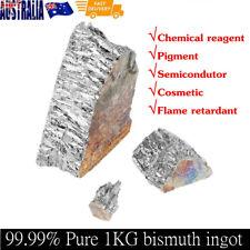 1KG Natural Bismuth Metal Ingot 99.99% Pure Crystal Geodes Piece Lump Chunk