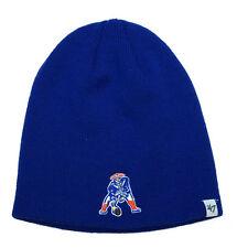 NFL New England Patriots Retro Men's Beanie Knit Cap, One Size, Royal