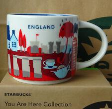 Starbucks City Mug Tasse Becher You are here YAH England 14oz NEU