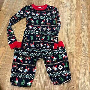 Hanna Andersson Pajamas Kids Size 10 Black Gnome Pajamas Christmas Pajamas