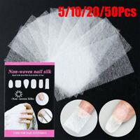 Nagelpflege Fiberglas Silk Nails Wrap Aufkleber für Gel Extension Nail Art yu