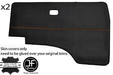 ORANGE STITCH 2X DOOR CARD VINYL COVERS FITS VW T25 T3 WESTFALIA CAMPER