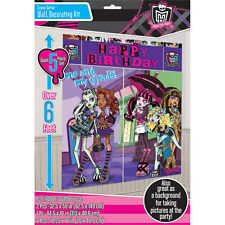 Monster High Happy Birthday Party Scene Setter - 1.65m Wide x 1.9m High