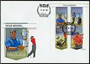 TOGO 2019 GOLF TIGER WOODS SHEET FIRST DAY COVER