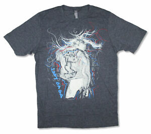 Lady Gaga Scribbles Grey T Shirt NEW. OFFICIAL