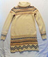 "Gap Kids ""Copper Mountain"" Sequin Accented Fair Isle Turtleneck Sweater Dress, 9"